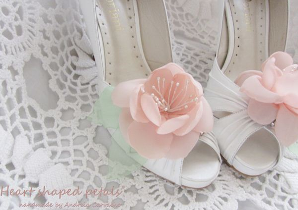 Flower clip shoes for weddings