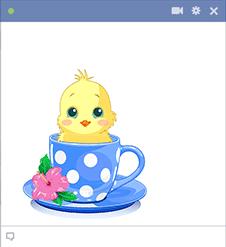 Teacup Chick Emoticon