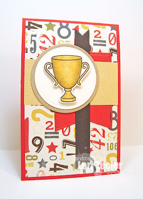 First Prize card-designed by Lori Tecler/Inking Aloud-stamps from Lawn Fawn