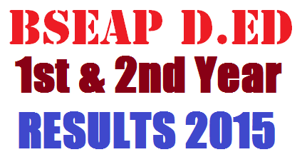 AP D.Ed 1st Year 2nd Year Results 2015 - BSEAP