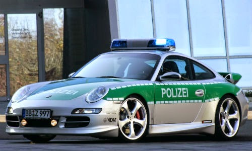 image of germany police car porsche