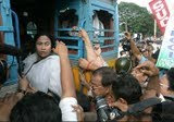 Mamata Banerjee on Bus
