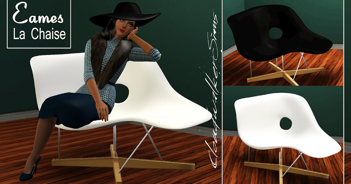 my sims 3 blog eames la chaise vintage chair by cloudwalker sims. Black Bedroom Furniture Sets. Home Design Ideas