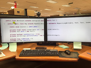 Dual 27 inch monitors with ZoomText