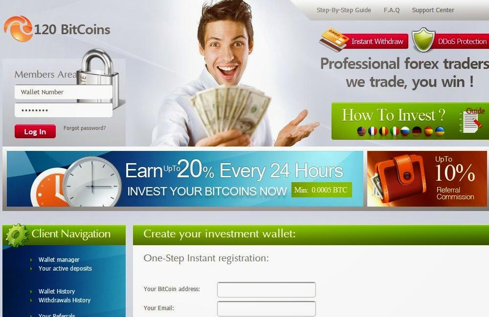 Investasi Bitcoin Di 120bitcoins Dengan Earning Up To 20% Per Hari