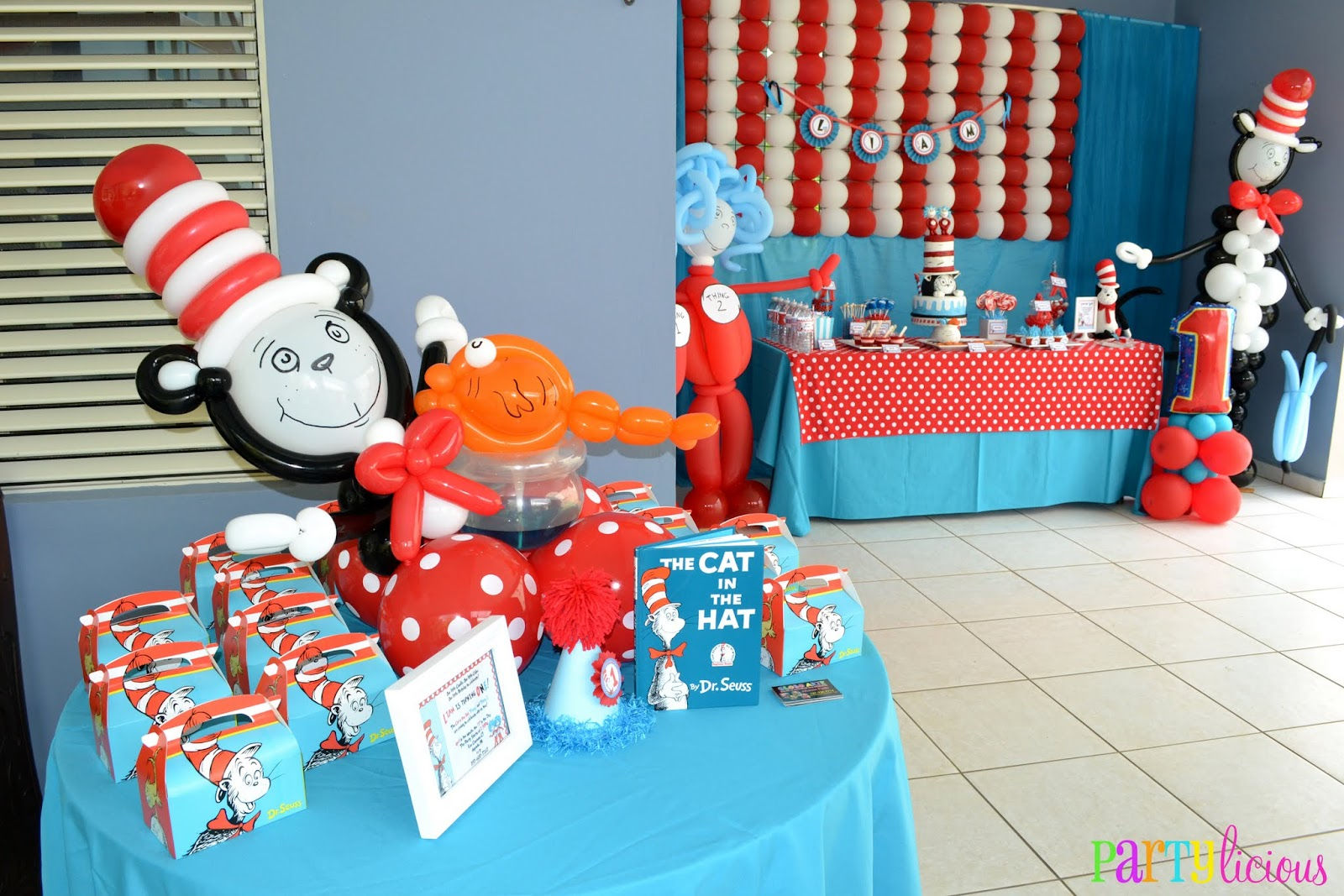 Partylicious Events PR The Cat in the Hat 1st Birthday