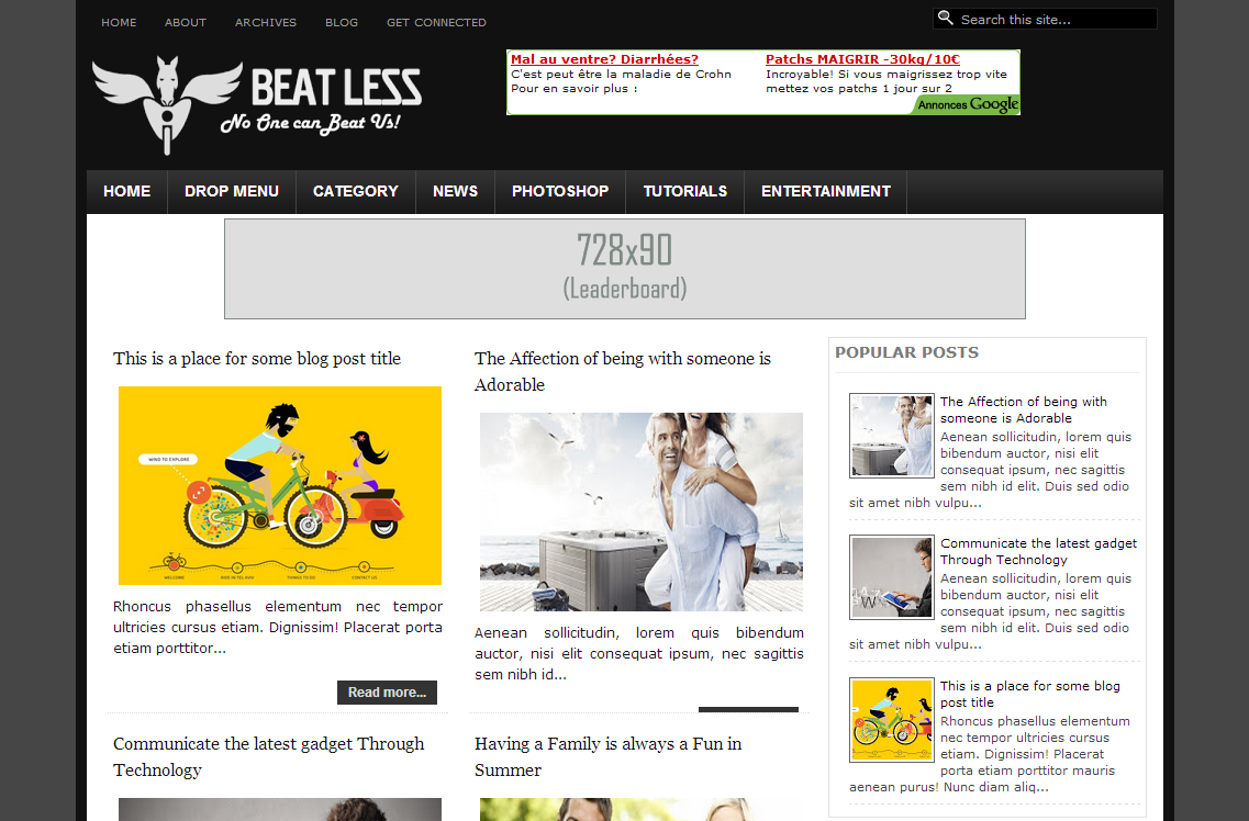 BeatLess Blogger Template