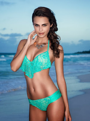 Moldavian super hottie, Xenia Deli looks hot and sexy for Luli Fama Swimwear photoshoot