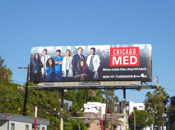 Chicago Med series premiere billboard