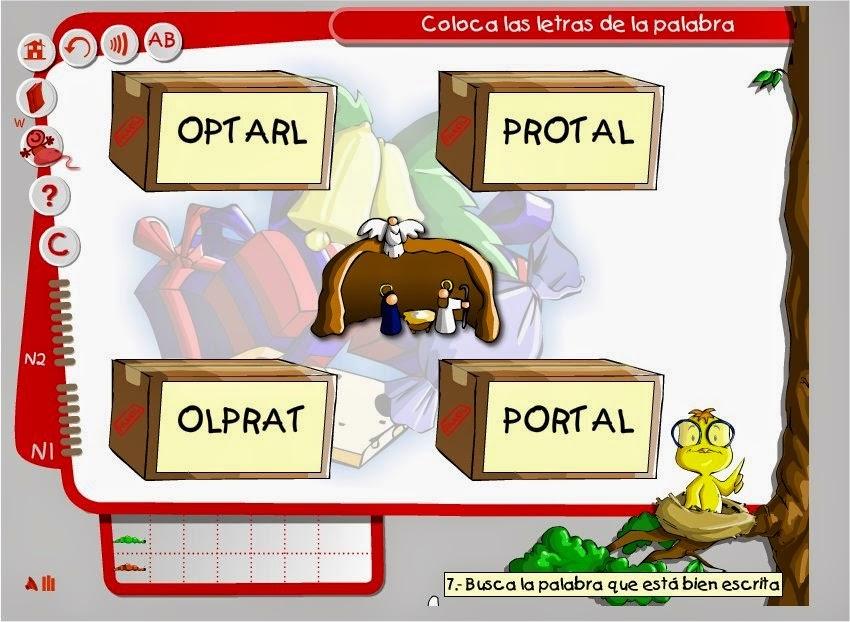 http://www.clicatic.org/recursos/tics-para-navidad/navidad-jugando-con-palabras#tic