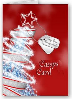please also take a moment to check out cassys card designed by a six year old little girls whos christmas wish is for every soldier to see her card - Christmas Cards For Veterans