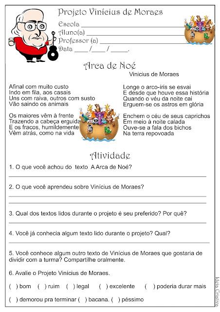 Atividade Projeto Vinicius de Moraes