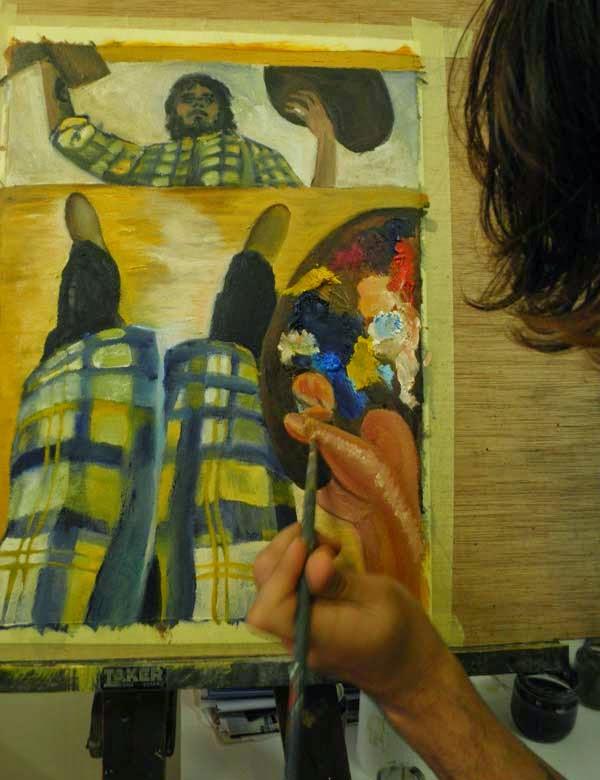 trabajando sobre un autorretrato