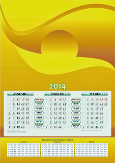 Download Kalender 2014 Masehi dan Hijriah 1435