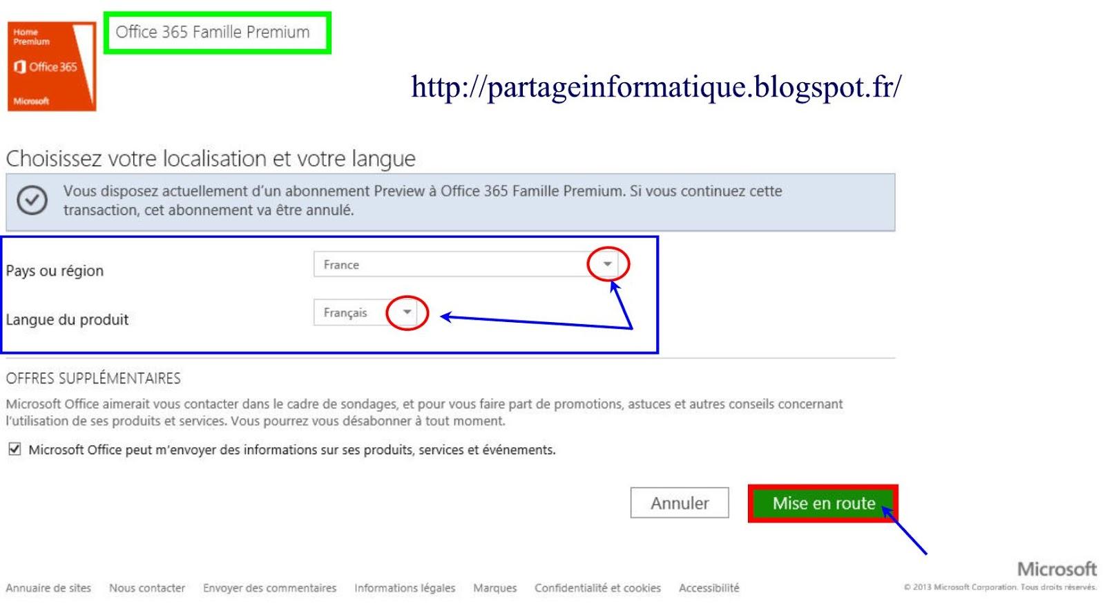 Partage informatique essayer office 365 gratuitement sous windows 8 - Installer office sur windows 8 ...