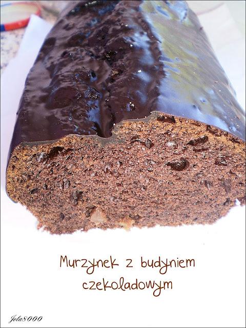 Murzynek z budyniem czekoladowym