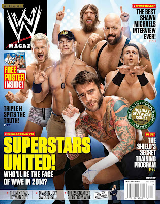 "WWE ""December 2013"" Magazine Issue HQ Cover Art [feat. Punk, Cena & More; 3000px]"