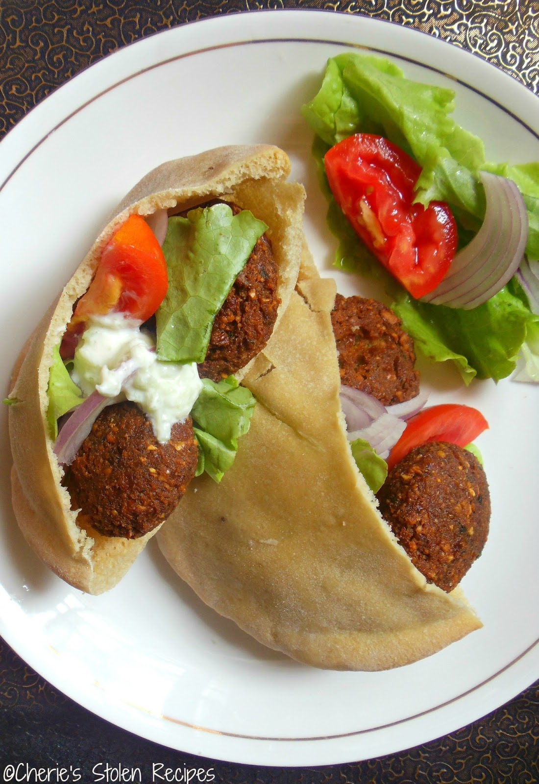 Cherie's Stolen Recipes: Falafel with Cucumber and Mint dip