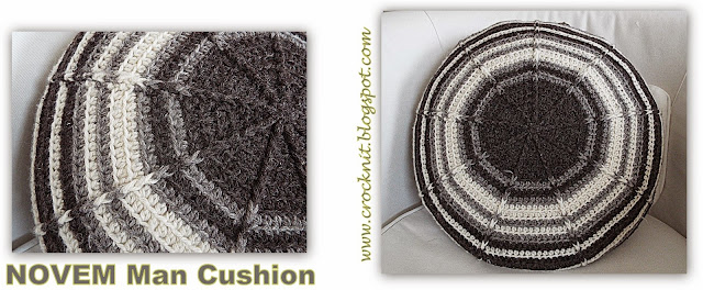 free crochet patterns circular cushion men