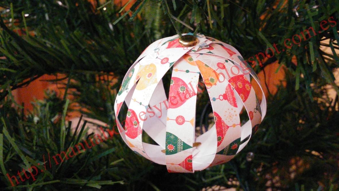 Manualidades y retales bola arbol navidad - Bolas arbol navidad manualidades ...