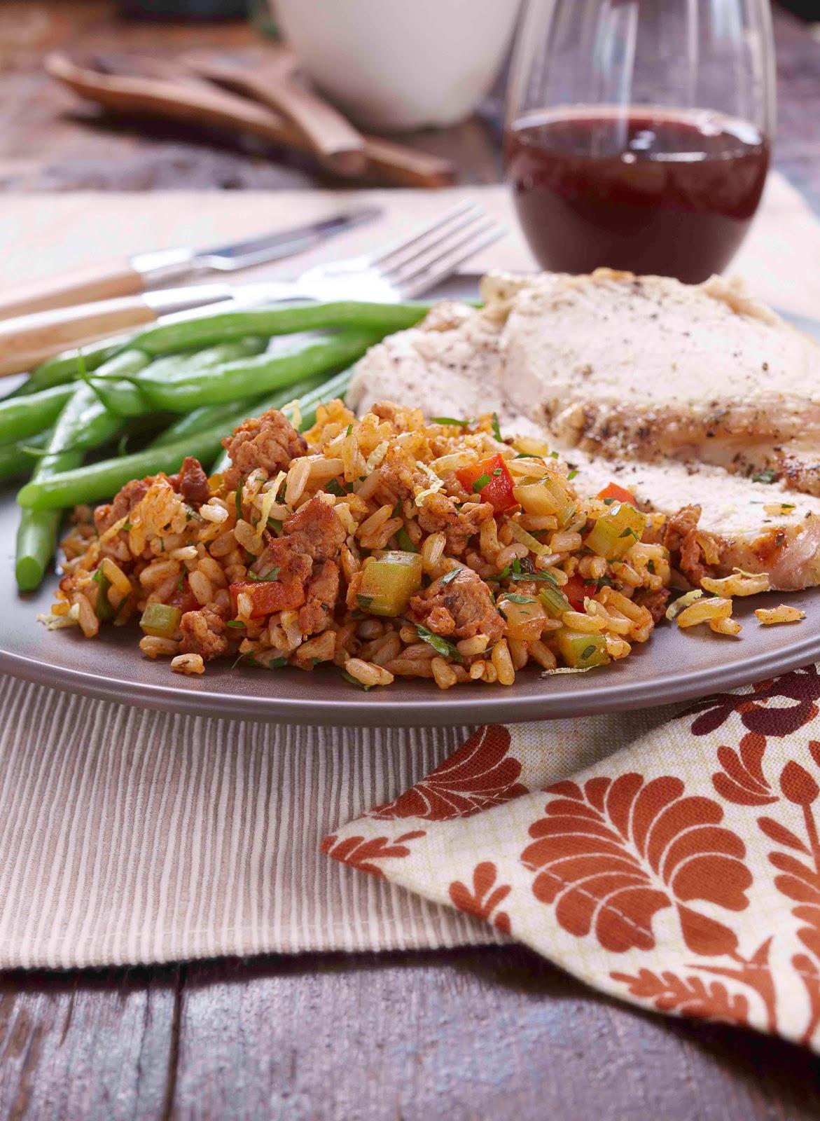 Food Tastes Yummy: CHORIZO, PEPPER AND RICE STUFFING