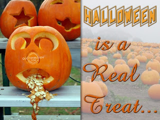 pumpkin is a real treat Halloween quote and sayings