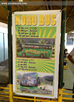 Schedule of Roro Bus going back to Puerto Princesa from El Nido Palawan