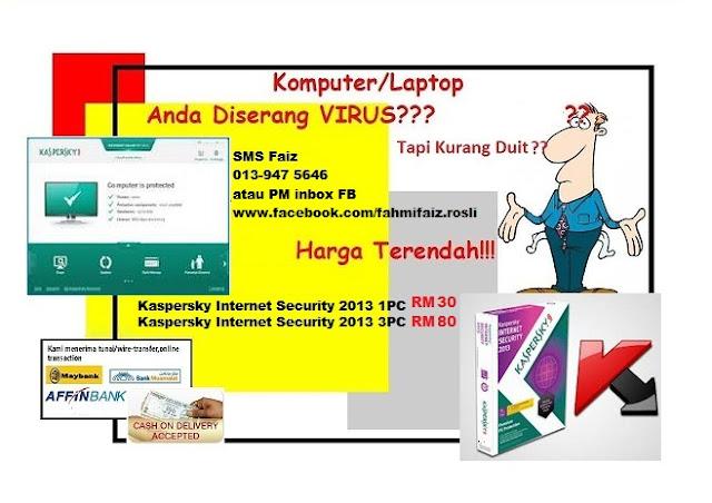 CempedakMalaya Kaspersky Internet Security 2013 RM30