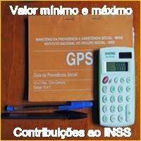 O valor mínimo e máximo de contribuição ao INSS desde 1994.