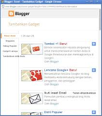 gadget blogger blogspot