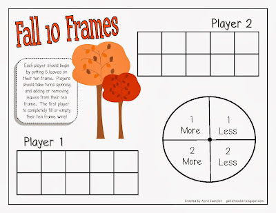 gwhizteacher, TpT Fall Math Games for 1st Grade