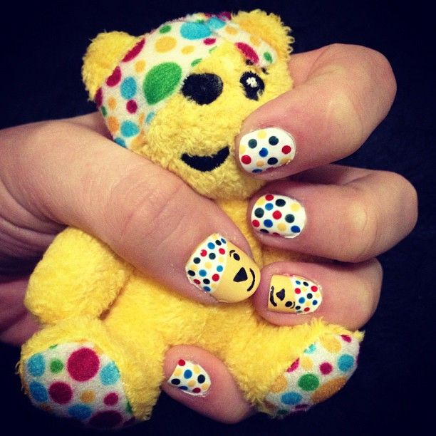 I Heart Nail Art Children In Need Pudsey Bear Nails