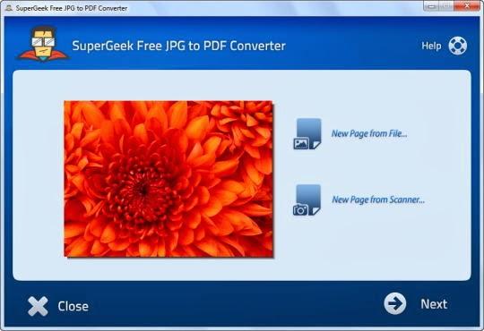 برنامج مجاني لتحويل الصور الي مستندات بصيغة SuperGeek Free JPG to PDF Converter 2.5.1 PDF