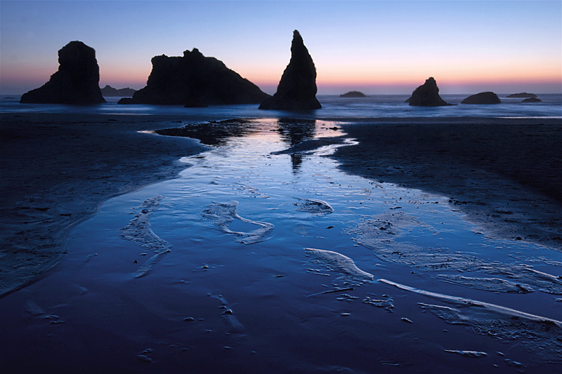 A Moment Preserved: BANDON BEACH INLET, SUNSET