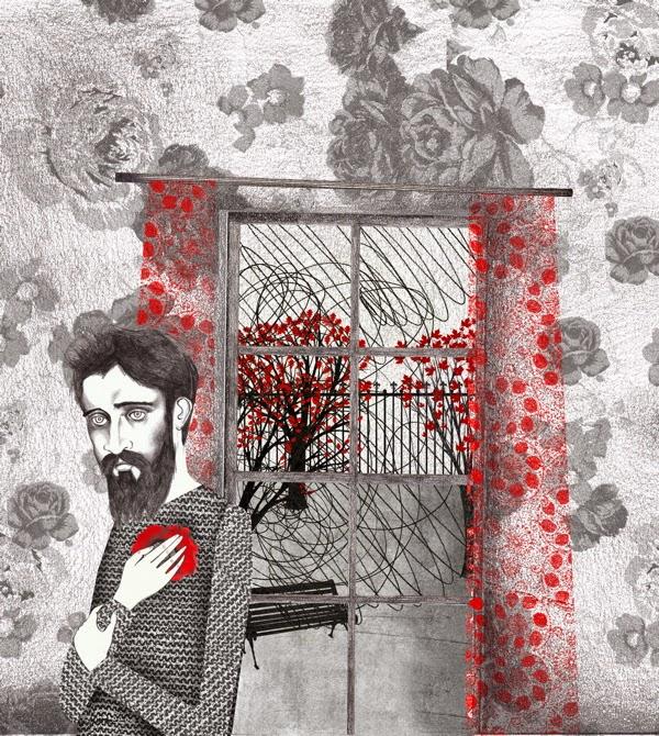 Ilustración de Sara Morante para La flor roja. (2011)