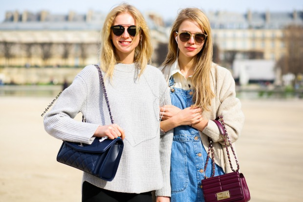 Nastya Sten and Sasha Luss, Paris, March 2015
