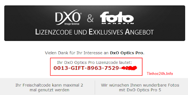 DxO Optics Pro v5 license code