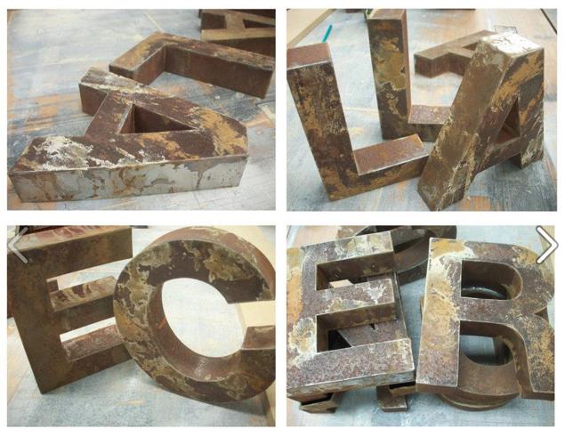 La f brica de p jaros letras en hierro - Letras de hierro ...