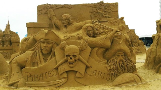 Pirates of the Caribbean Disney Sand Sculpture