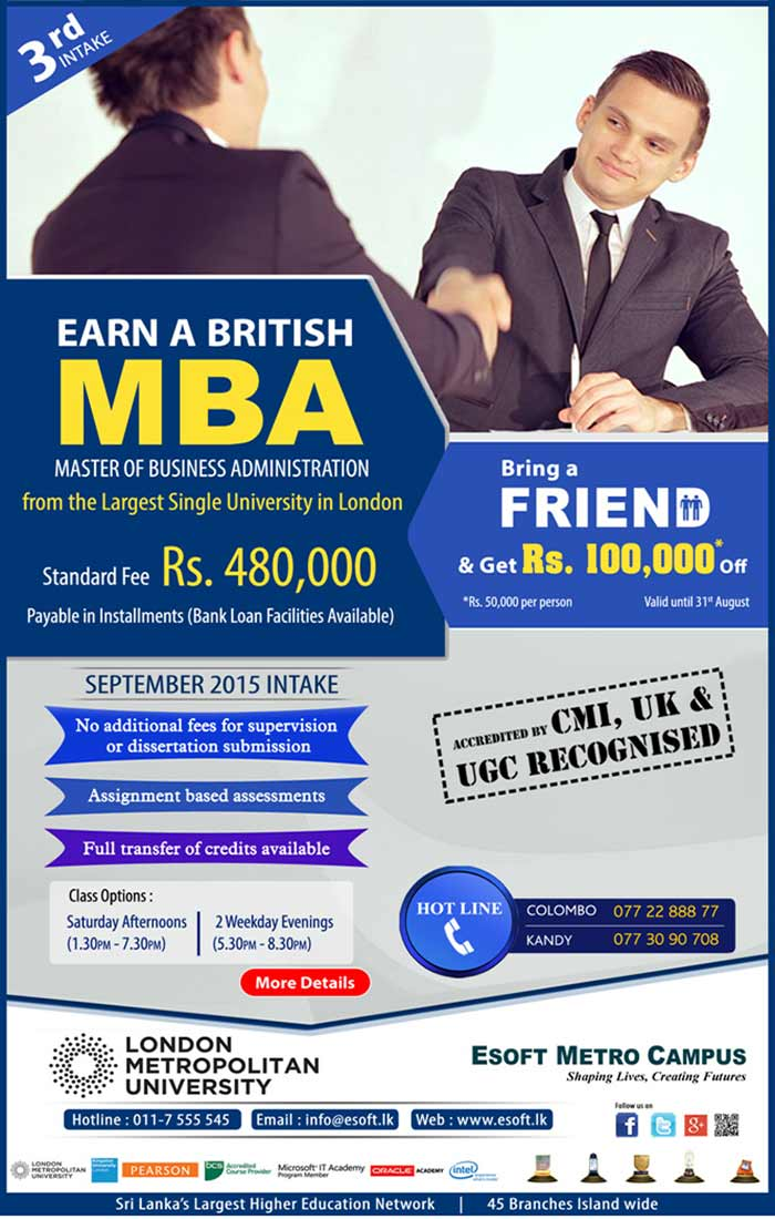 The MBA is probably the most internationally recognised and valued academic award in today's business world. In many organisations, it has become an essential qualification for those intending to reach senior management positions. This course is designed for graduates who wish to acquire a strong background in business and professional development on an intensive 18-month course. Studying for an MBA at London Metropolitan University enables you to gain an in-depth understanding of senior management issues and helps you develop the skills, techniques and awareness necessary to become a manager and leader in contemporary business and society. Our MBA programmes enable you to inter-relate theory with practice and to develop an incisive strategic outlook for real life management situations. The programmes are highly interactive, enabling you to build upon your experiences and openly share your knowledge and ideas with your peer group. Studying for a full-time MBA enables you to focus in great detail, in one year, on business management. Job prospects in all areas of business after an MBA are good, and many employers value the dynamic outlook and originality of thought provided by MBA graduates.