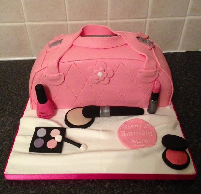 Sarah T Cakes Handbag And Make Up Birthday Cake