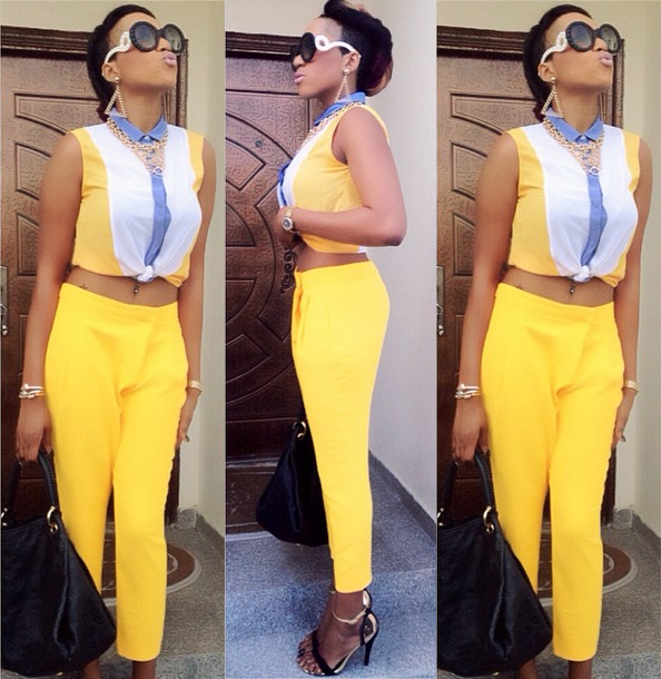 Actress Rukky Sanda 'Shining' Bright in Yellow Outfit – Photos