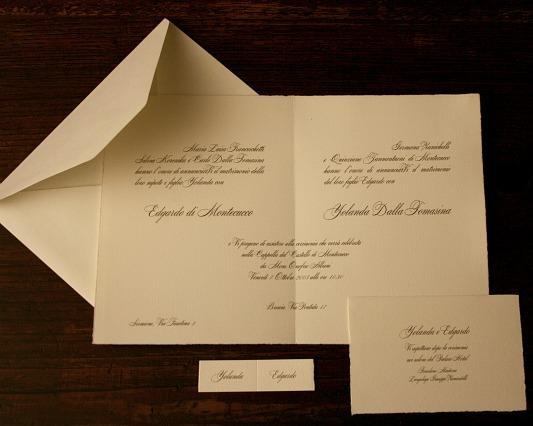 gadeau rilievo l 39 annuncio di matrimonio con stampa in rilievo