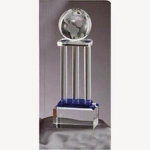 Cool Blue Globe Pillar Award