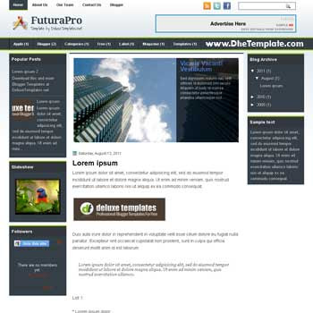 FuturaPro blogger template. 3 column blogspot template