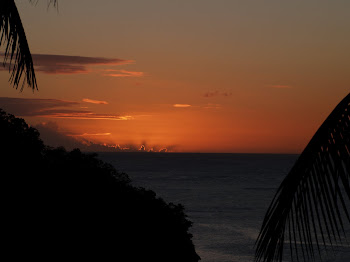 Sunset in St. Lucia