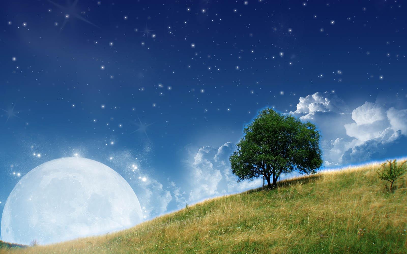 3d nature wallpaper moon - photo #5