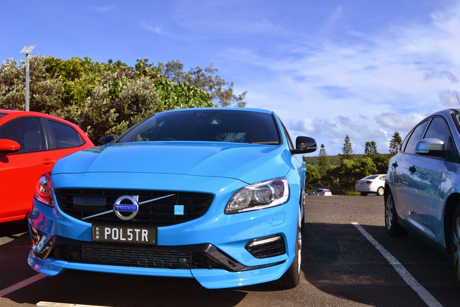 The Volvo V60 Polestar enjoying the Autumn sun in Byron Bay