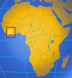 Fildişi Sahili'nin Haritadaki Yeri