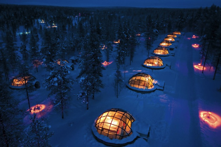 Really cool pics igloo hotel in finland for Really cool hotels